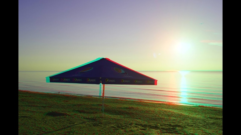 Walk on the beach Arabatskaya arrow 3d Anaglyph