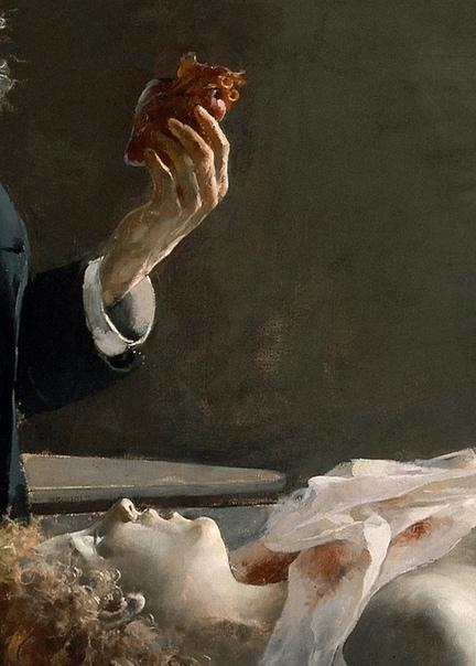 Картина «У неё было сердце!», 1890 Художник Энрике Симоне,