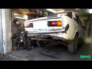 Моя самодельная лебедка для демонтажа двигателей ТС