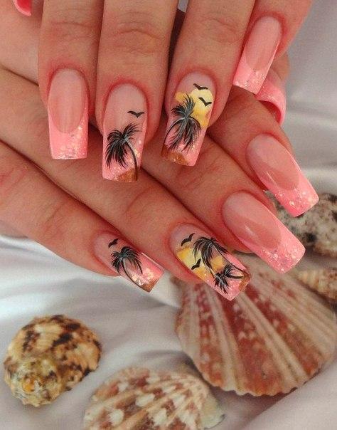 Фото дизайн ногтей лето
