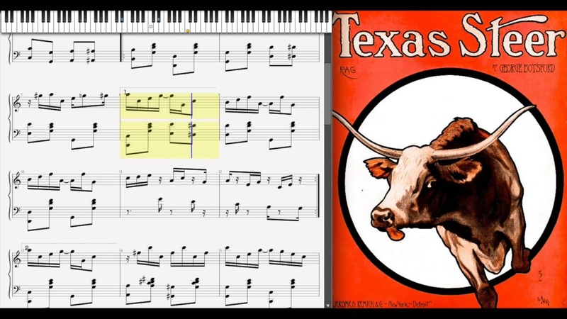 Texas Steer Rag by George Botsford (1909, Ragtime piano)