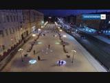 Иваново Площадь Ленина Зима Фонари