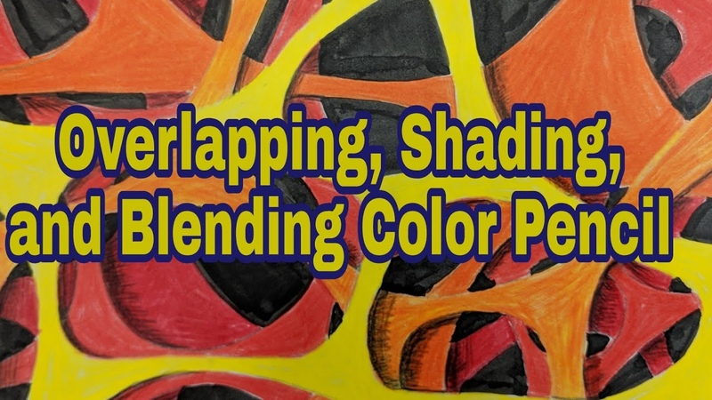 Overlapping Shading and Blending Color Pencils Art for Kids
