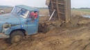 Dump Truck Driver Get Stuck On Mud Road Extreme Dump Truck Offroad