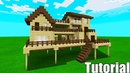 Minecraft Tutorial: How To Make A Wooden Survival House 4 Starter House Tutorial