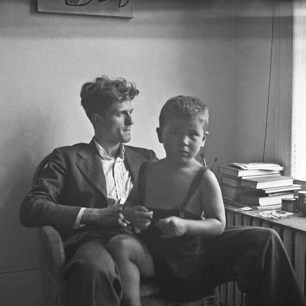 Фотопортрет сына и отца (Роберт Де Ниро и Роберт Де Ниро старший).