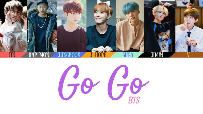 BTS (방탄소년단) - Go Go (고민보다 Go) Lyrics [Color Coded Lyrics](HanRomEng)(Official Audio)