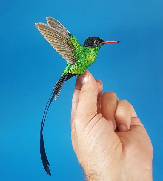 Лондонский художник Зак Маклауглин (Zac Mclaughlin . В его руках дерево и кусочки бумаги превращаются в удивительно натуралистичных пернатых друзей. Зак создаёт птиц и мелких животных в