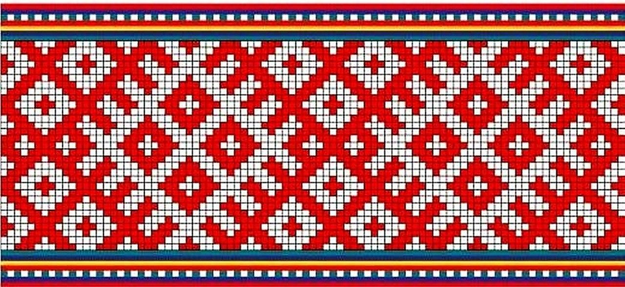 Ромбы в вышивках