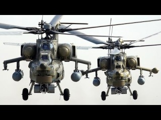 Полет и стрельбы Ми-28.