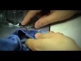 Ремонт пуговицы заклёпки на джинсах