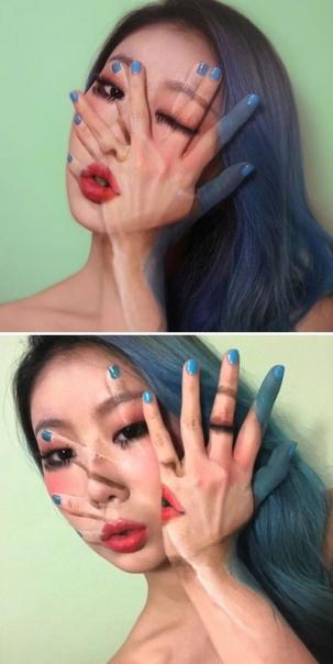 Новые сюрреалистические иллюзии на лице талантливой южнокорейской визажистки