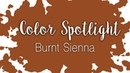 Color Spotlight: Burnt Sienna / Watercolor Color Profile