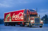 Грузовик Coca Cola, праздник Новый год!!!