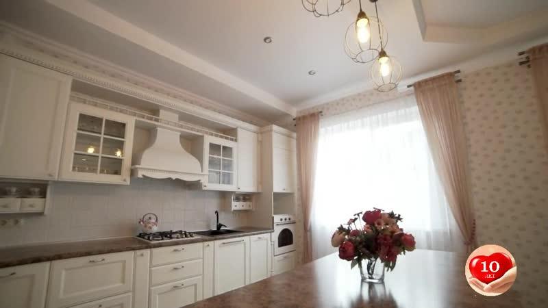 Кухня с фасадами Милан Бьянко.