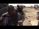 Ирак.Архив.Оператор запечатлел момент попадания ракеты ПТРК в фронтальный погрузчик правительственных сил