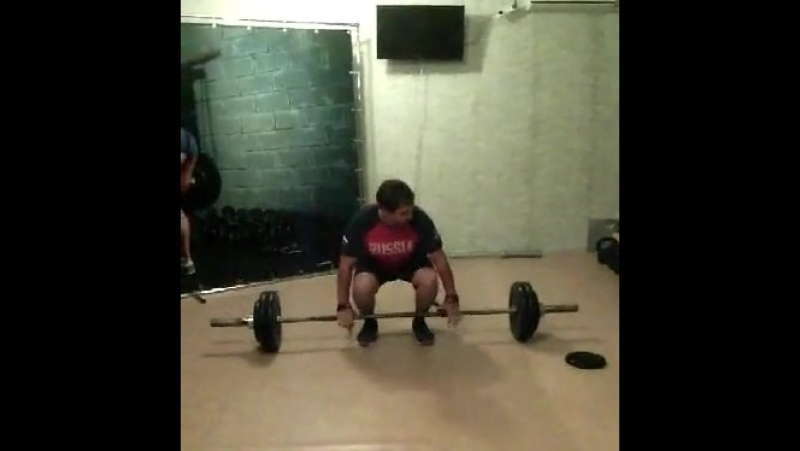 Становая тяга 123 кг. Рябовский тренажерный зал. Соб. вес: 77 кг