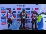 Церемония награждения после мужского спринта в Оберхофе (5.01.18)