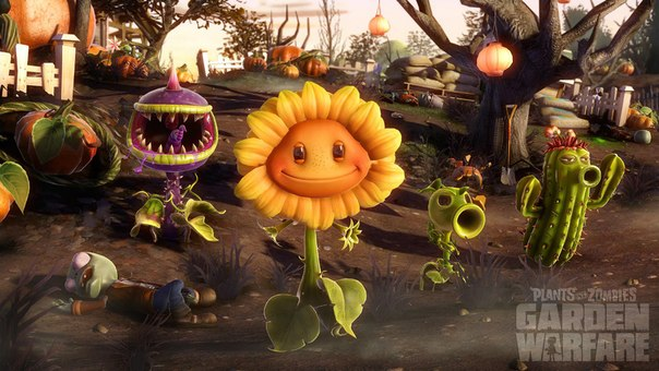 Plants vs. Zombies: Garden Warfare logo, coverart, логотип, картинка