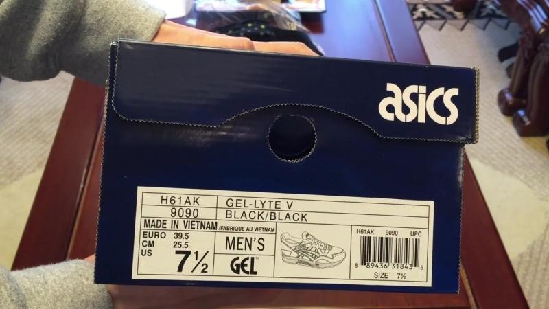 Atmos x Asics Gel Lyte V Black-Gold Sneaker Unboxing