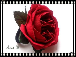 МК Пионовидная роза из фоамирана.