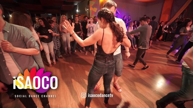 Ilya Kronberg and Katerina Mik Salsa Dancing in Respublica Vosmera, Monday 30.04.2018