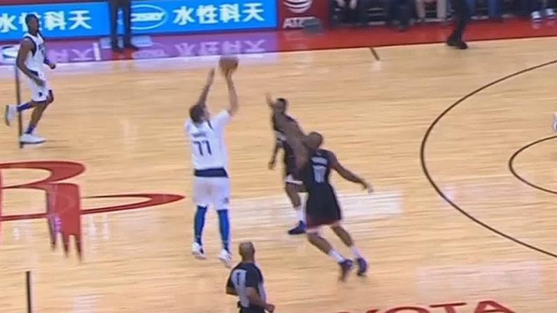 Luka Doncic SHOCKS Rockets Crowd With Stephen Curry Range From Half Court! Rockets vs Mavericks