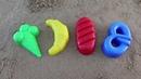 Изучаем цвета на английском языке для маленьких детей играем в песочнице мороженое рогалик батон