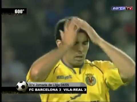 Season 20042005. FC Barcelona - Villarreal CF - 33 (highlights)