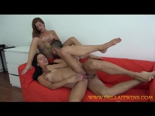 Eveline Dellai And Silvia Dellai - With A Young Guy CZECH  [All Sex, Hardcore, Blowjob, Gonzo]