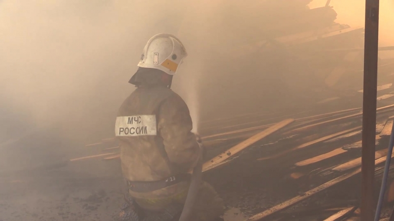 Пожар в Пасегово 18 июня