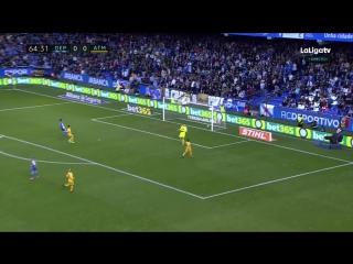 Испания  ЛаЛига Депортиво - Атлетико 0:1 обзор  HD