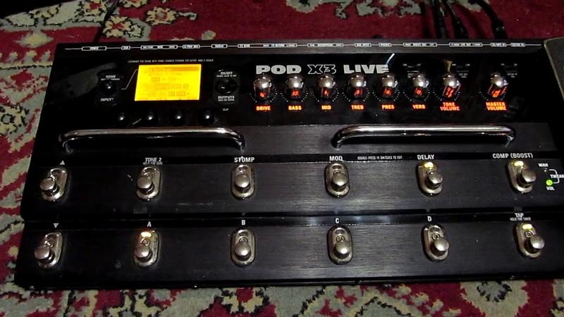 GS 2 My Line6 Pod X3 Live Тест перед продажей