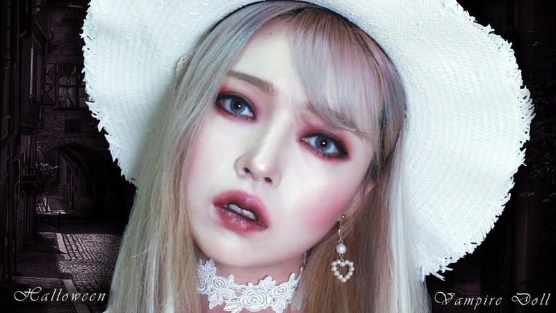 Halloween Vampire Doll Make-up (with. CLINIQUE Cola pop)