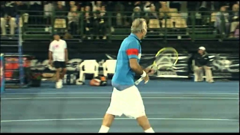 Leconte Bahrami v Llodra Wawrinka World Tennis Challenge Adelaide 2012