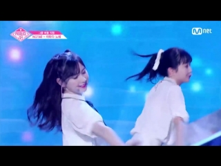 PRODUCE 48 1:1 eye contact | Ямада Ноэ (NGT48) - Gfriend Love Whisper Team 1 group battle