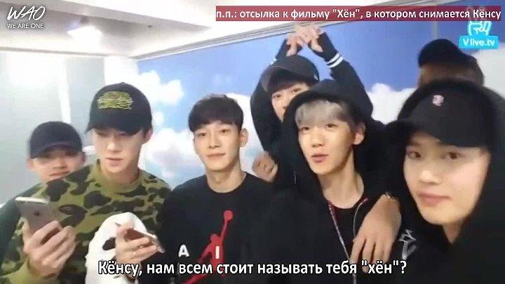 [WAO рус.саб] 151127 V App - Первый эфир EXO