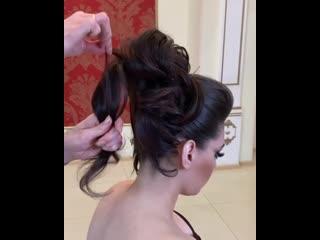 Вечерняя причёска от Георгия Кота