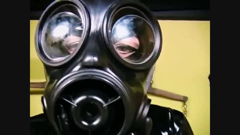 Rubber Gasmask Breathplay