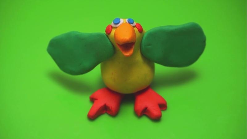 Веселый пластилин.Птичка./Cheerful plasticine. Bird.