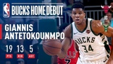 Giannis Stuffs The Stat Sheet (19p, 13r, 5a) In Just 22 Mins of Game Action! #NBANews #NBA #Bucks #GiannisAntetokounmpo