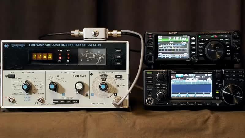 Радиоканал с Алексеем Игониным Icom IC-7300 и Yaesu FT-991A - сравнение чувствительности приёмников
