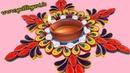 Paper Quilling : Creating Rangoli Designs for Diwali festiwal -2016