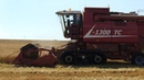 Работа в поле зерноуборочного комбайна L-1300TC