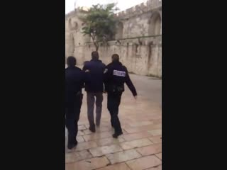 Basem Naim 6 hrs - Israeli forces arrested 👇Ashraf al-Sharbati, employee of the Islamic Waqf, from courtyards of #AlAqsa Mosque