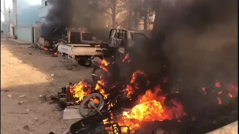 Митинг в Ракке против СДС