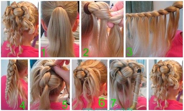 Как сделать причёску не сложную для ребёнка