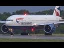 FullHD British Airways Boeing 777-200ER landing takeoff at Geneva/GVA/LSGG