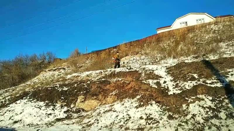 Мне все больше нравится маразм при попытке навести порядок в городе перед Универсиадой. Вот и траву, торчащую из под снегом лучш