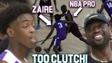 Zaire Wade GOES CLUTCH VS NBA PLAYERS InFront of D-Wade In MIAMI PRO AM! Young Flash